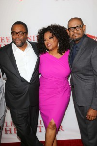 "Lee Daniels, Oprah Winfrey, and Forrest Whitaker at the Los Angeles premiere of ""The Butler"""