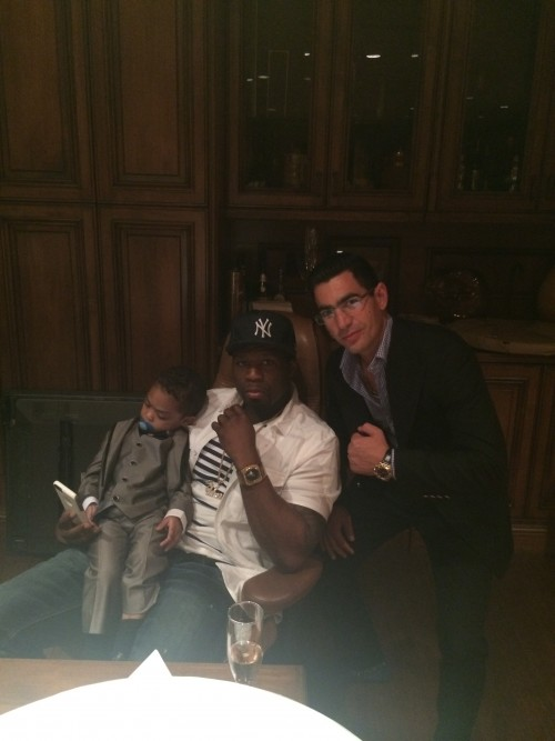 Gary Taglyan, 50 Cent, and Sire at Taglyan Complex