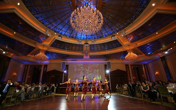 Dancers at the Armenian Relief Society Gala at Taglyan