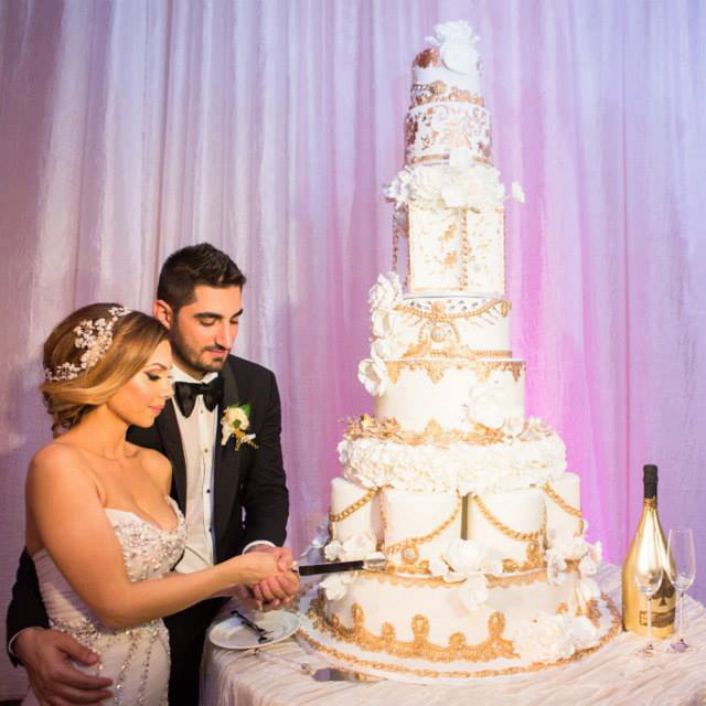 Edward and Lena's Wedding Cake at Taglyan Complex