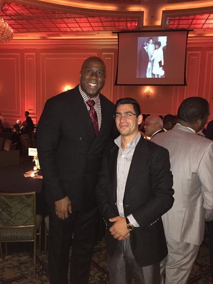Gary Taglyan and Magic Johnson at Taglyan Complex