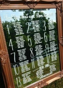 wedding seating chart Taglyan Complex