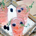 Fancy Cocktail With Blackberries