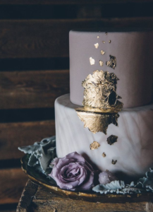 Wedding Cake Trends - Gold Foil Flake
