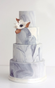 Wedding Cake Trends - Marble Fondant