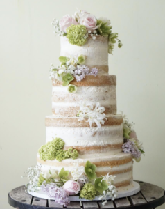 Wedding Cake Trends - Naked Cake