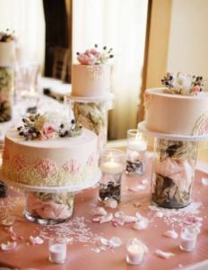 Wedding Cake Trends - Separate Cakes