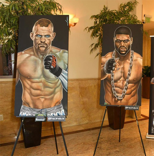 Paintings For Auction At Smash Global Black Tie Fight Night
