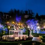 Event Space In Los Angeles - Wedding Couple in Taglyan Gardens at Night