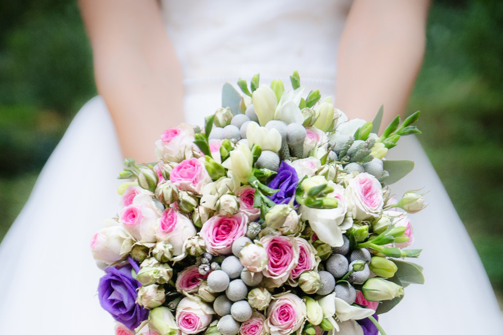 Marriage License - Wedding Bouquet