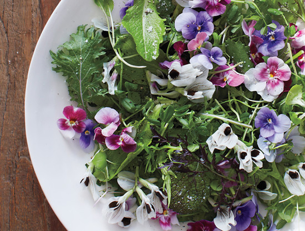 Edible Wedding Flowers - Salad With Flowers In it
