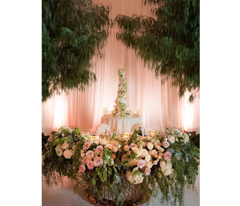 Wedding Color Palette - Greenery And Wedding Cake At Taglyan