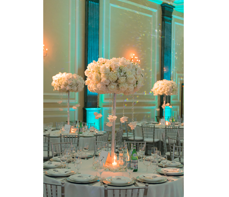 Wedding Color Palette - Reception Table At Taglyan Complex