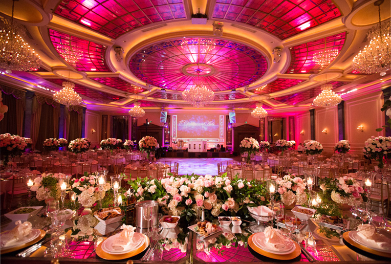 Wedding Color Palette - Pink And Gold Ballroom At Taglyan