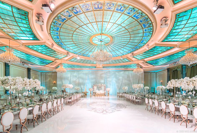 Wedding Color Palette - Aqua And Gold Wedding Colors At Taglyan