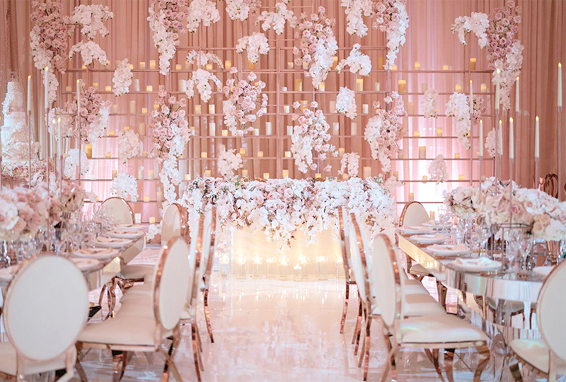 Wedding Color Palette - Pink And White Ballroom At Taglyan