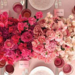 Wedding Color Palette - Red Ombre Flowers