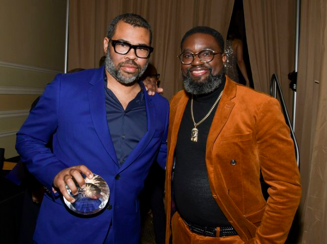 11th AAFCA Awards At Taglyan - Jordan Peele And Lil Rel Howery