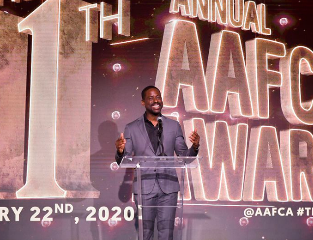 11th AAFCA Awards At Taglyan - Sterling K. Brown